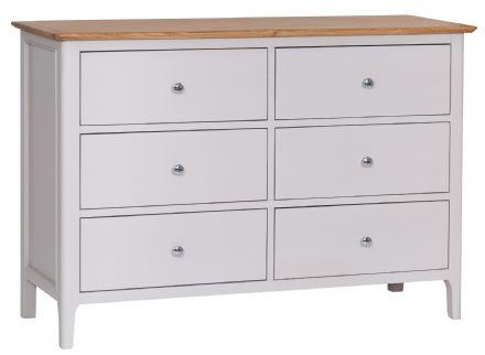 Newhaven Grey Painted 6 Drawer Chest